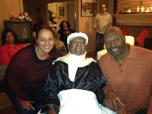 That's Monte Coleman, his wife Yvette, and me.(Photo credit: Gwen Terry)