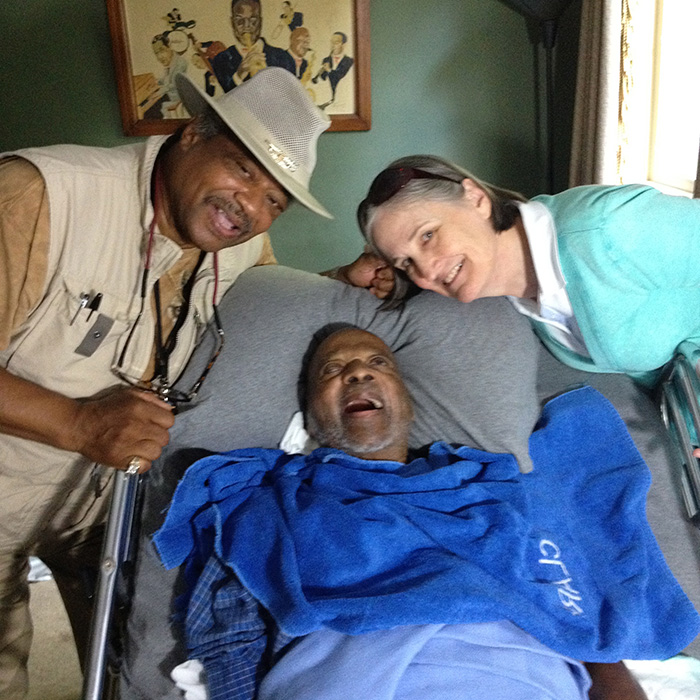 """Sweet"" Willie Singleton and his wife Carol with Clark It was so beautiful to hang out with Willie and Carol. Photo Credit: Gwen Terry"